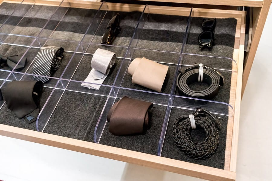 closet accessories and drawers