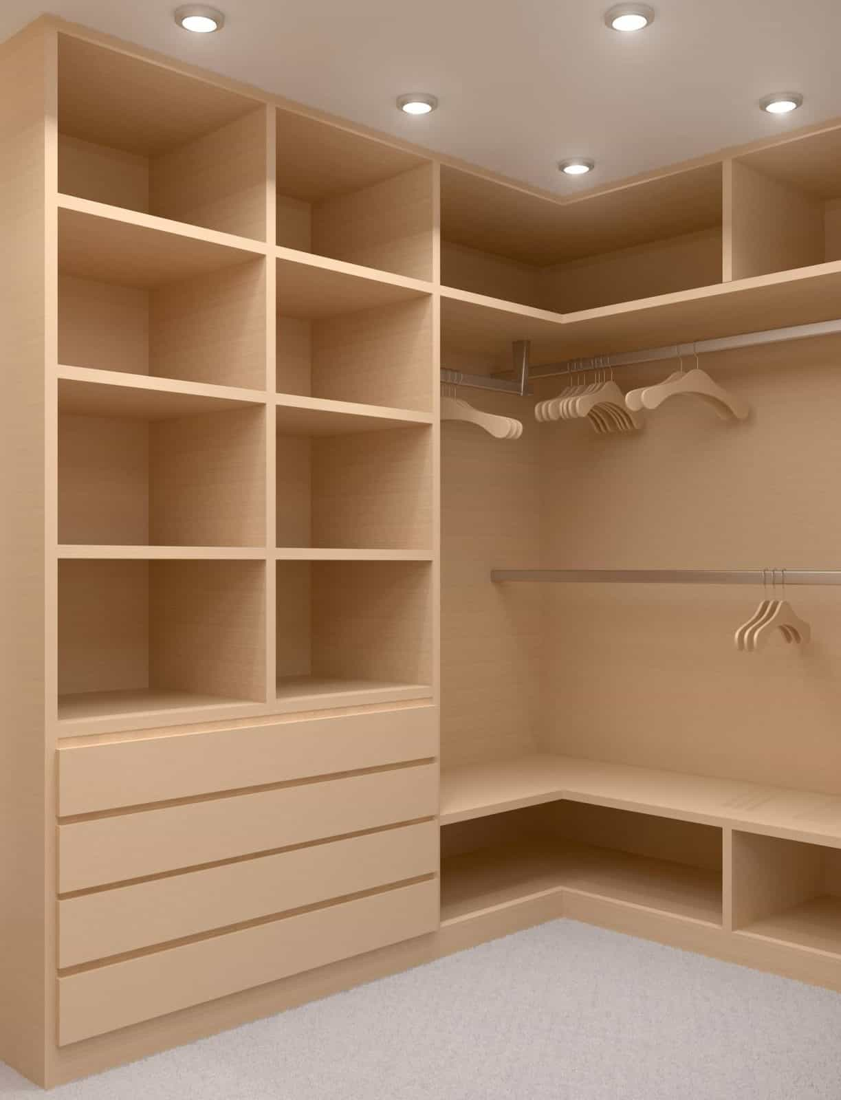 custom built shelves for closets