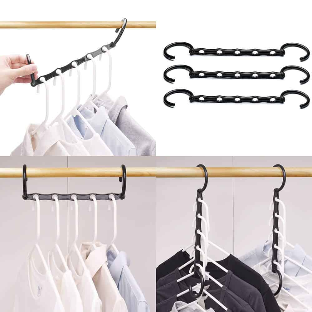 space saving closet hangers